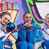 俄艺术体操队亮相柏林