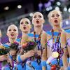 俄罗斯艺术体操队获得欧洲运动会集体全能冠军