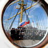 """三桅帆船""""克鲁森施滕""""号完成航行回到加里宁格勒"""