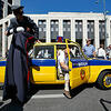 莫斯科举行苏联汽车游行活动