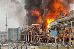 Fire at the Novy Urengoy Condensate Treatment Plant