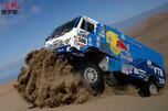 Karginov of Russia drives his Kamaz truck CN
