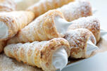 Egg white cream cones