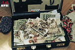 Money in suitcase