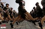 North Corea marching women
