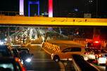 Turkish soldiers block Istanbul's iconic Bosporus Bridge