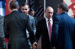 US President Barack Obama (L) and Russia's President Vladimir Putin (2R