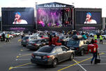Live&Drive concert on a parking lot of Luzhniki stadium
