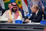 Mohammed bin Salman talks with Russia President Vladimir Putin