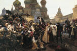 "Surikov is attracted by strong vibrant personalities in which the rebellious spirit of the people runs deep: the fierce determination and indomitable spirit of the red-bearded Streltsy in the ""Morning of the Streltsy Execution"" (1881), and the passion and fanatical asceticism of Boyarynya Morozova in the eponymous painting."
