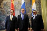 会晤后,三国外长在莫斯科发表联合公报。摄影:AFP/East News
