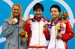 2012年伦敦奥运会上,16岁的叶诗文在女子400米混合泳决赛中,以4分28秒43的成绩打破世界纪录并夺取金牌。摄影:路透社(Reuters)