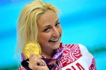 图中:俄罗斯残奥会金牌得主奥莱斯雅·弗拉德科娜,图片来源:AFP