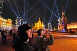 """莫斯科""""光之晕2012""""艺术节,图片来源:塔斯社"""