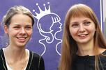 参加比赛的俄罗斯选手娜杰日达·科辛采娃(Nadezhda Kosinceva)、塔季扬娜·科辛采娃(Tatyana Kosinceva)图片来源:俄新社