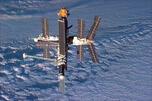 """""""和平号""""载人轨道空间。图片来源:美国航空航天局。"""