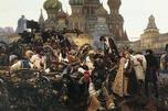 近卫军临刑的早晨,瓦西里··苏里科夫画,1881年。