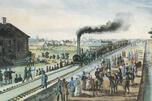 着色版画《皇村铁路》,作于1837年