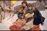 革命前的明信片《圣诞占卜》,画家:伊·伊·斯木克洛维奇