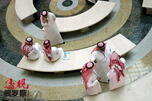 Saudi men talk to each other at a hotel in Jeddah CN