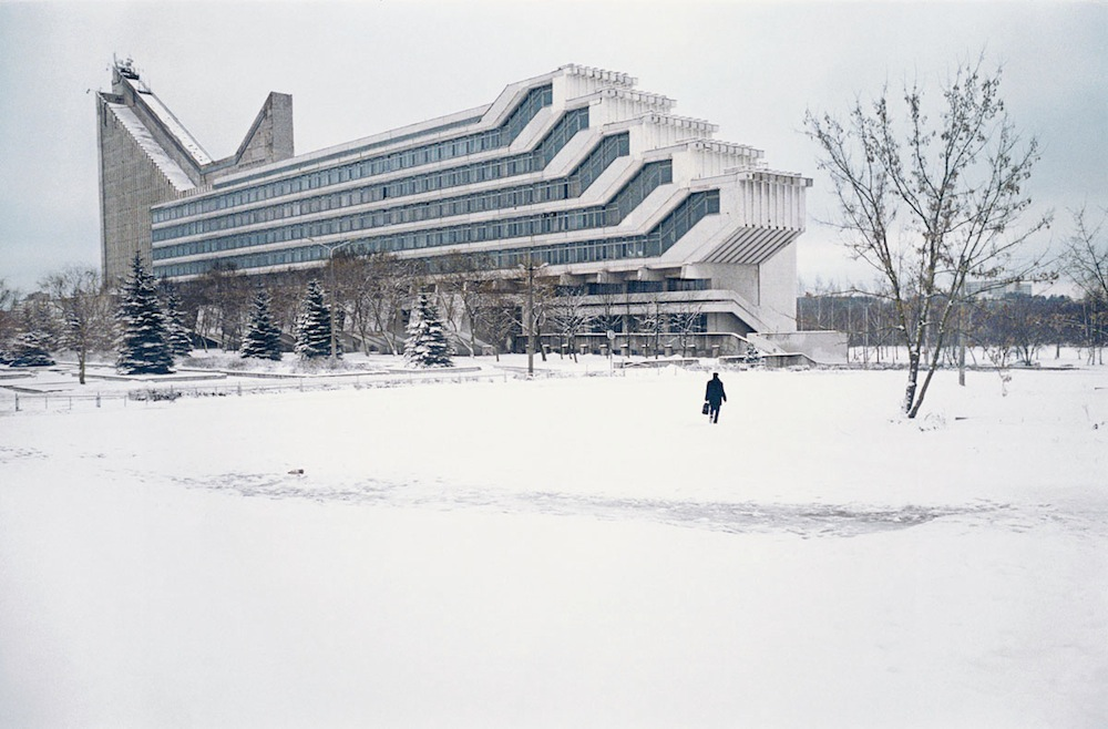 The architecture faculty at the Polytechnic Institute of Minsk and its succession of overhanging lecture theaters. (V. Anikin, I. Yesman) Belarus, 1983