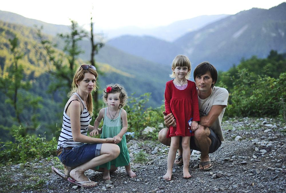 Three years ago Kristina Sudarevskaya with her husband Dmitry and their little daughters moved from Moscow to a tiny mountain village, Medoveevka, located ten kilometers away from Krasnaya Polyana, Sochi.