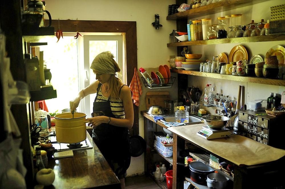 Everything looks edible and quite appetizing in the kitchen of a soap-maker.