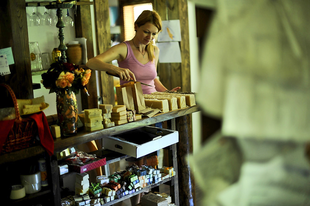 Now she makes about four tons of products in a year: soap, shampoos, gels, balms, scrubs and creams. All of them are supplied to spa salons, elite bath-houses, stores and outlets selling natural cosmetics. Soap from Medoveevka under the Krasnopolyanskoe Mylo brand name is also ordered by private clients from Russia and other countries.