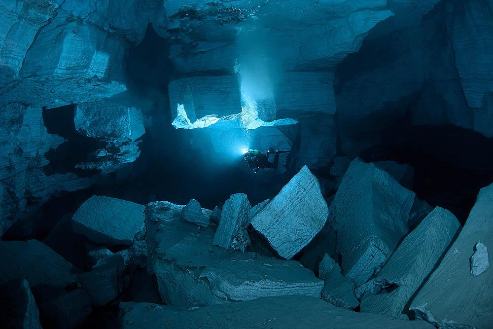 """Renowned British speleologist Martin Farr, a visitor to Orda Cave, has this to say of the Perm spelunkers who have explored it: """"These people are as extreme as their environment."""""""