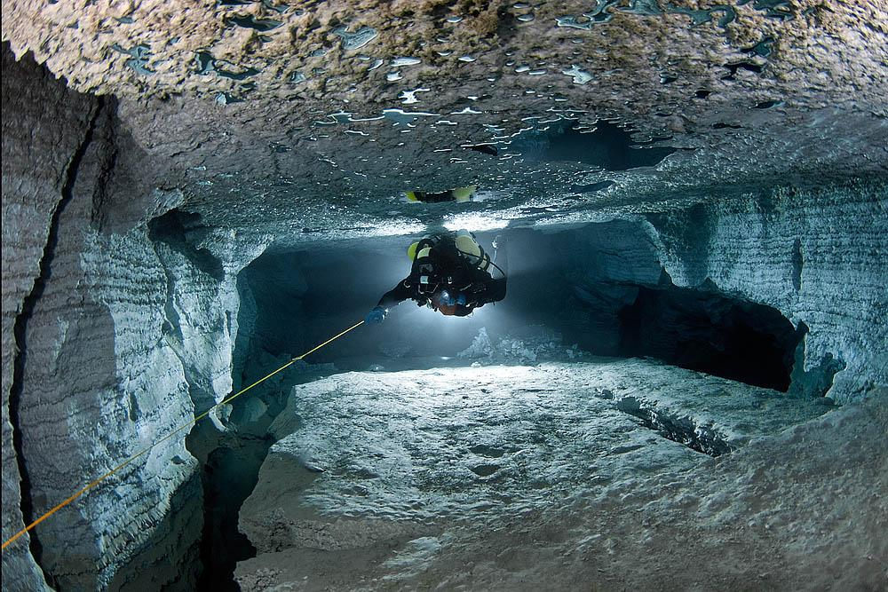 It acquired the official status of Russia's longest underwater in 1997 through the efforts of the first all-Russian underwater speleological expedition. Before then, only 1250 meters of the underwater section of the cave had been explored — that has now more than trebled to 4000 meters.