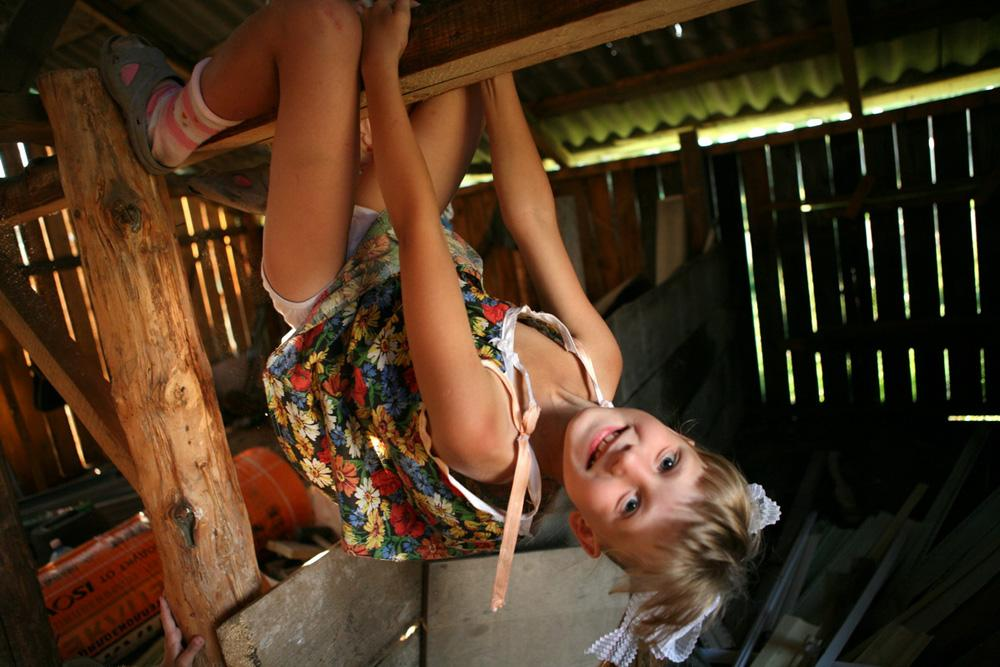 Girl from an orphanage, who lives now with a foster family. Elban' village, Novosibirsk region, 2008.