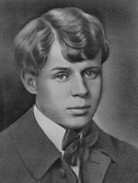 """Владимир Мајаковски ја опишуваше трансформацијата на уметноста на својот колега поет СЕРГЕЈ ЕСЕНИН, преку трансформацијата на неговиот изглед: """"Прв пат кога го сретнав носеше светкави чевли и селска кошула со везени крстови...кога го видов после револуцијата веднаш почнав да викам: `Есенин, па ти носиш палто и вратоврска!`"""