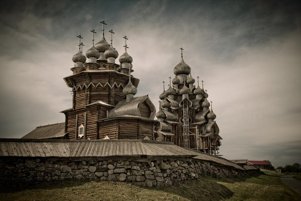 The Transfiguration Church, built in 1714 and located with the companion Church of the Intercession on its original site, is for many visitors the defining monument of Kizhi.