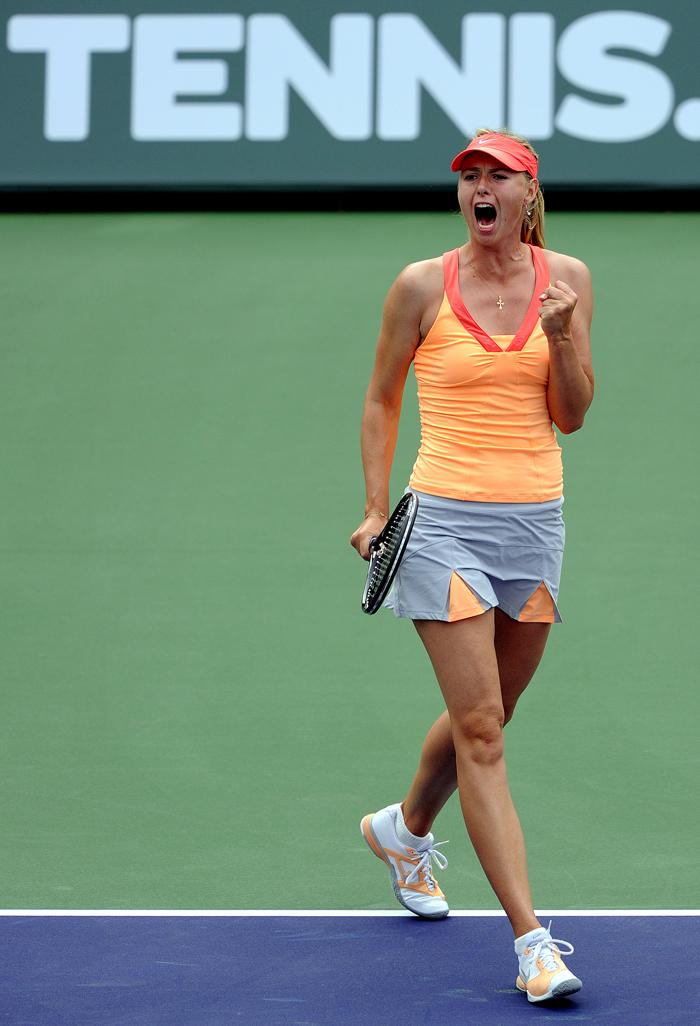Maria a commencé le tennis à 4 ans. Son premier entraîneur l'a remarquée alors qu'elle jouait, une raquette d'adulte entre les mains, pendant un entraînement de son père, un amoureux de tennis, Yuri Sharapov.