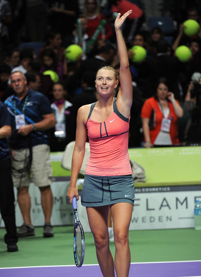 Le 3 juillet 2004, Maria a gagné l'un des tournois de tennis les plus prestigieux au monde, Wimbledon, en remportant la finale contre l'américaine Serena Williams. Elle fut la première joueuse de tennis russe à remporter un tournoi à Wimbledon.