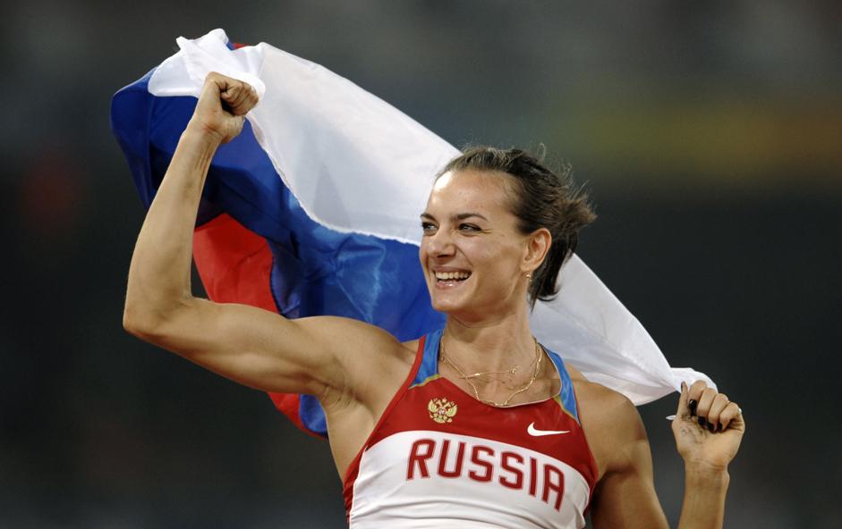 伊莲娜•伊辛巴耶娃是俄罗斯著名撑杆跳高运动员、俄罗斯功勋运动健将、两届奥运会冠军得主(2004年和2008年)以及2012年奥运会铜牌获得者。同时,伊辛巴耶娃曾经28次打破撑杆跳高世界纪录。