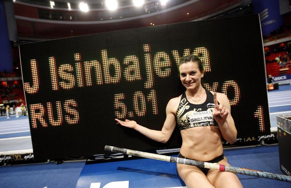 """伊辛巴耶娃曾经两次获得体育界最负盛名的奖项""""劳伦斯世界体育奖"""" (Laureus World Sports Awards)年度最佳女运动员奖项。"""