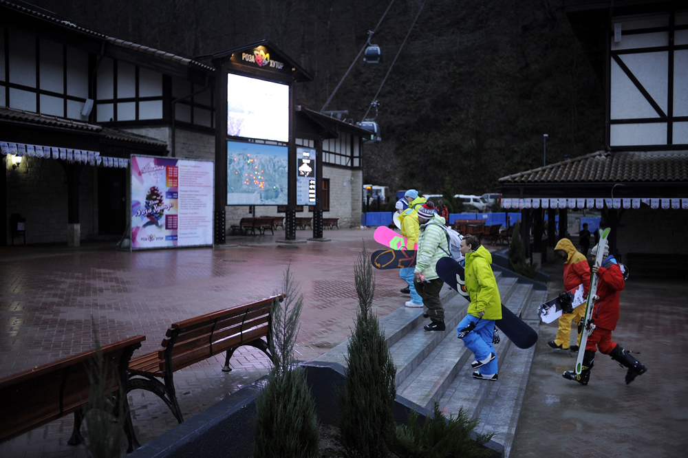That is the origin of the name of the Roza Khutor ski resort.