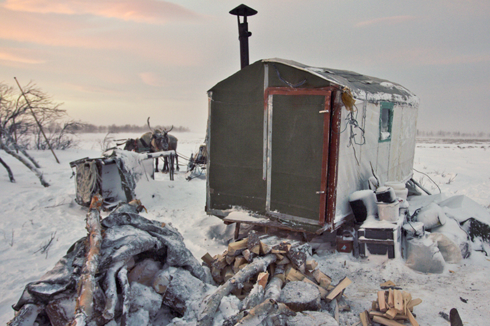 This may be part of Russia, populated by Russians, but the local residents live in houses built on sleds and often walk through a wind that blows so fiercely that it can carry a dog away. When they look up, they see a crimson sky – when it isn't completely dark.