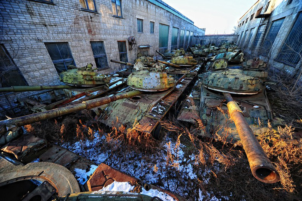 An abandoned repair base for military equipment in the town of Ussuriisk in the Russian Far East, 5 500 miles east from Moscow. Previously, it was one of three bases in the USSR that not only repaired, but also modernized tanks.