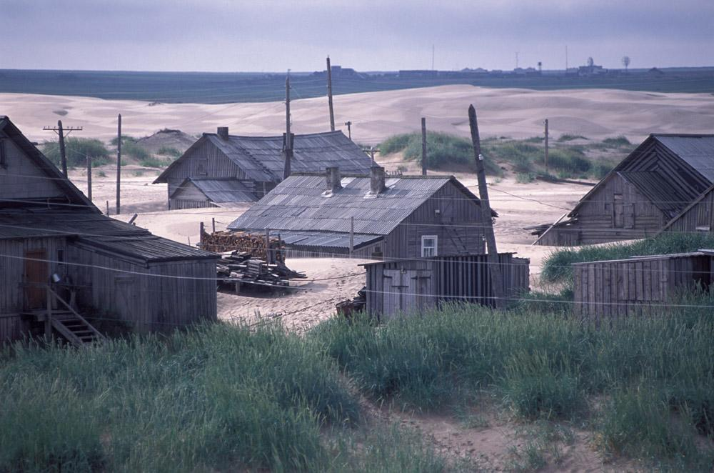 In Shoyna, sand is ubiquitous. It is all around, as far as the eye can see. The dunes, which migrate up and down the White Sea coast by action of the westerly wind, can bury a house up to the roof in a single night.