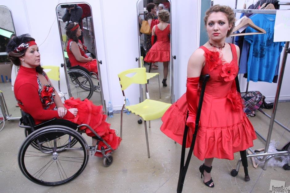 """Photos of people with disabilities and others inspirational figures who overcame difficulties and deprivations are another recurrent theme// The backstage of the international beauty contest """"Couture without borders,"""" Moscow"""