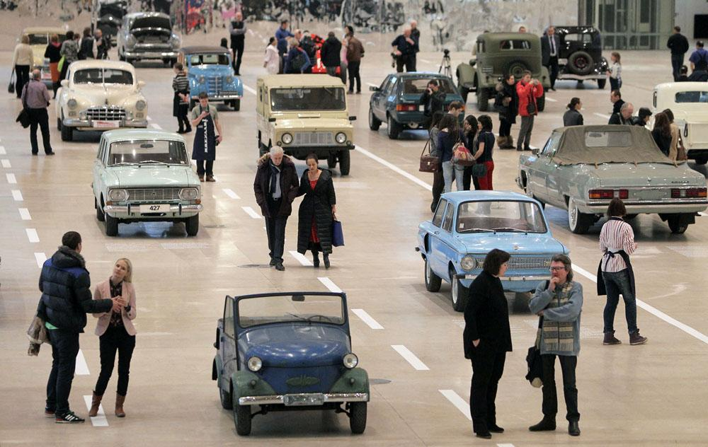 Twenty seven Soviet-made retro cars are on display at Moscow's Manezh center near the Kremlin. The exposition features legends of the Soviet automotive industry, which spanned the history of the state from 1929 to 1991.