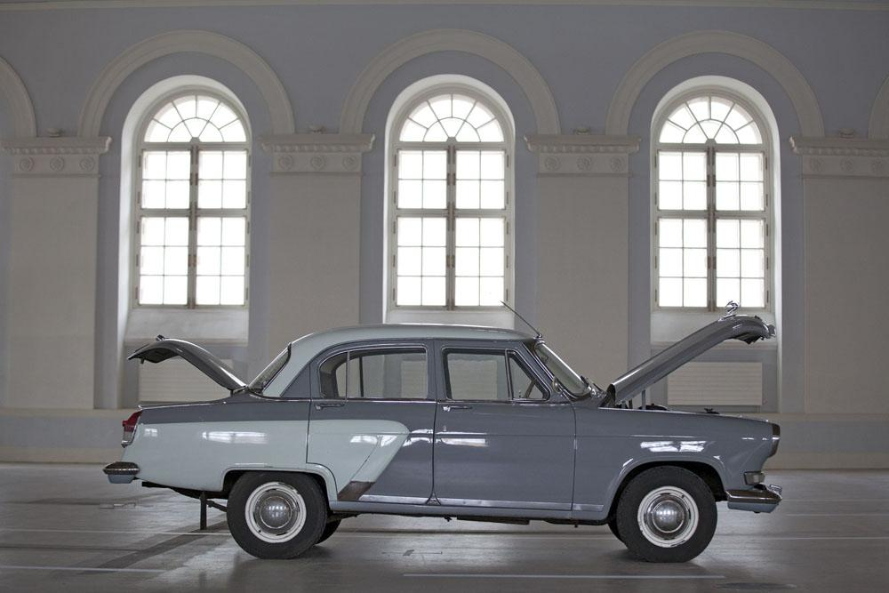 Volga is an automobile brand that originated in the Soviet Union to replace the venerated GAZ-M20 Pobeda in 1956. Modern in design, it became a symbol of higher status in the Soviet nomenklatura. Volga cars were also traditionally used as taxi cabs, road police interceptors, and ambulances.