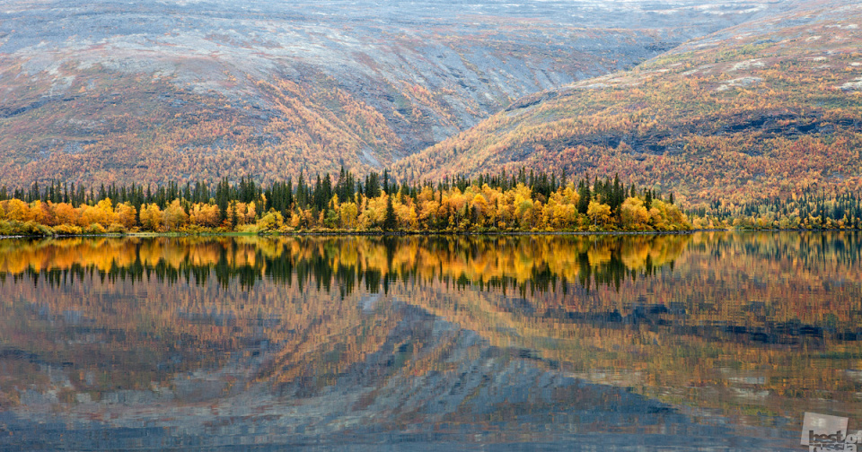 """Best of Russia - is an acclaimed annual Russian photo-contest. The contest, that marks the 5th anniversary this year, gained a huge popularity among Russians. Check out the winners of the """"Nature"""" section. // The reflexion of autumn, Murmansk"""