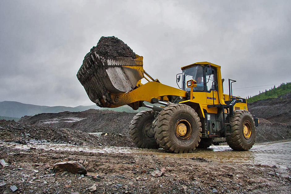 Then a fragmented gold-bearing ore is loaded into the hopper of the rinser. The Kolyma region is located in the far north-eastern area of Russia in what is commonly known as Siberia but is actually part of the Russian Far East.