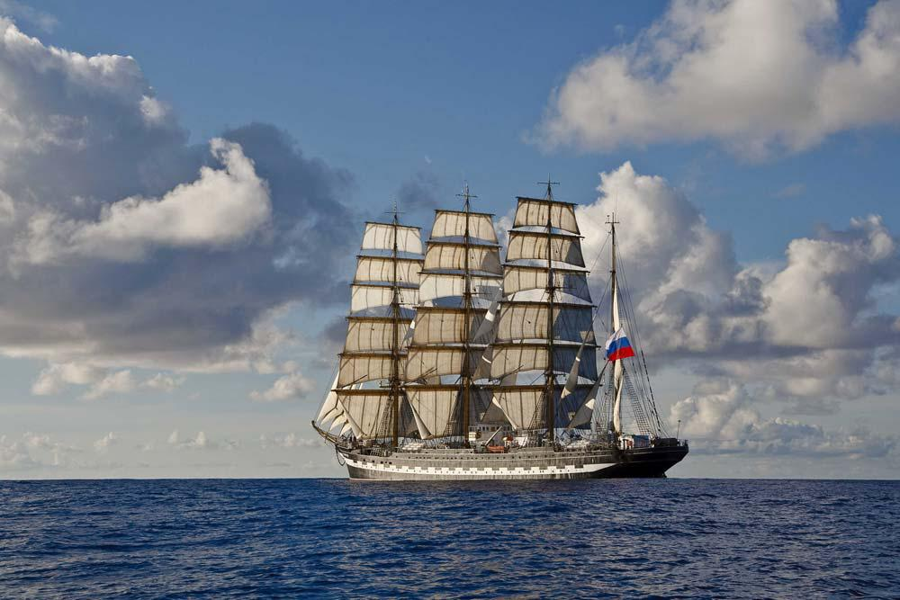 After the Sedov, another former German ship, she is the largest traditional sailing vessel still in operation.