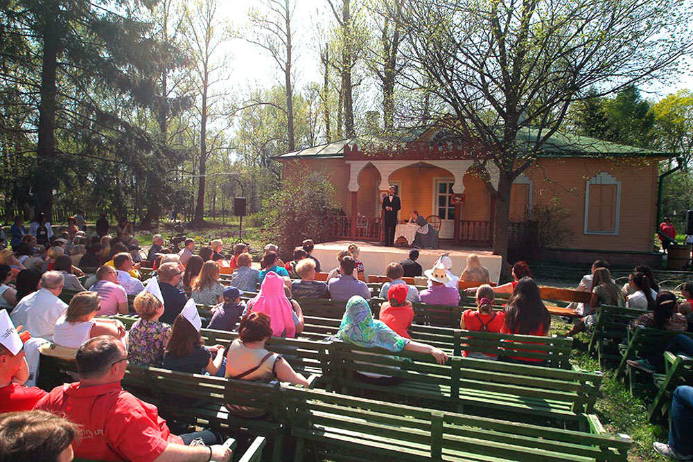 The town of Chekhov, 32 miles south of Moscow, has seen the start of one of the most unusual theater festivals, known as Melikhovo Spring.