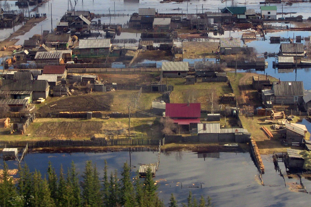 About 10 towns in Yakutia in Russian Far East were flooded.