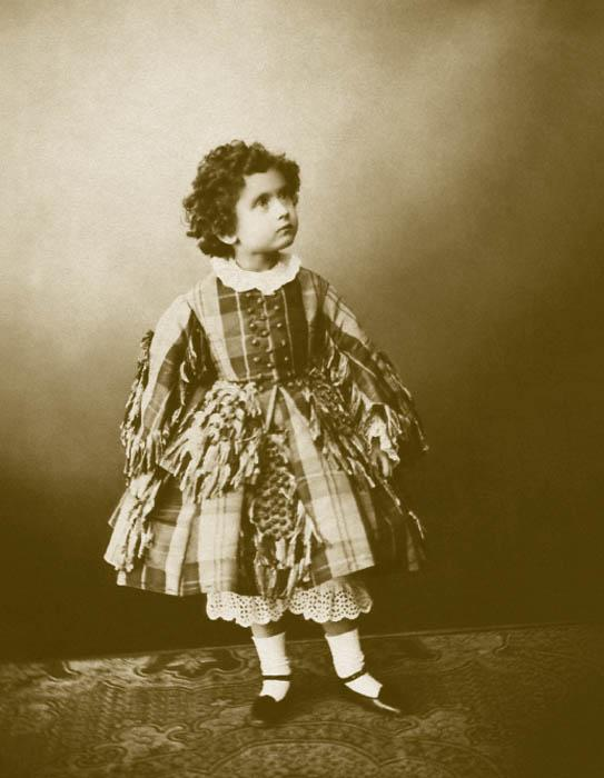 In the 1860s, children's clothing in Russia generally followed the precepts of fashion as proclaimed in Paris. Boys' and girls' clothing up to the age of five differed only slightly. They all wore petticoats and small pants. Sisters and brothers would dress alike.